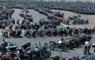 Concentración de motos en el Premio de moto GP