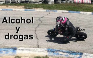 karting alcohol drogas motos