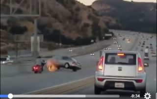 ley del karma motorista accidente en moto