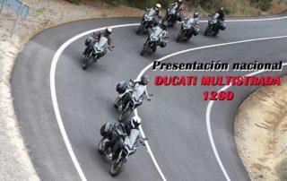 ducati multistrada 1260 presentacion nacional 2018, moto touring, travell, viajar en moto, zona test, prueba de moto