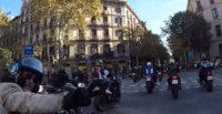 manifestacion en moto, barcelonaenmotosi, barcelona en moto, acciones en moto, prohibición motos