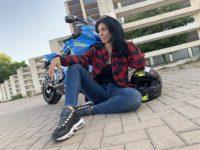camisa de cuadros mujer para ir en moto con protecciones de xlmoto