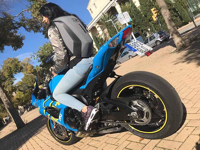 mochila ergonómica especial para viajar en moto con equipaje