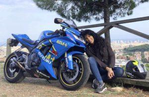 berta doria con su moto 2019