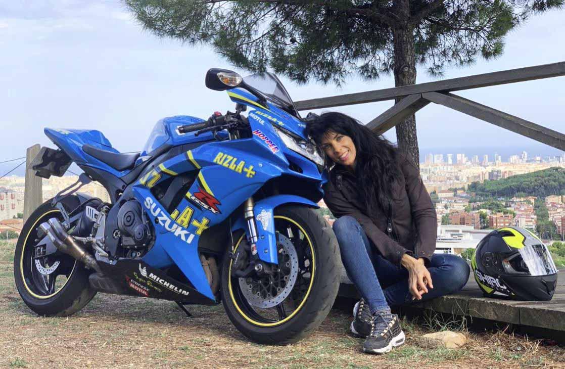 berta doria con su moto 2019, escoger la primera moto